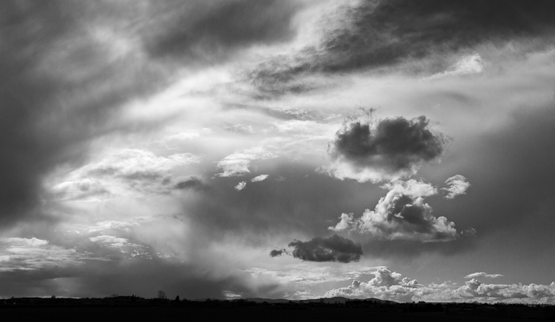 After the rain over the distant Malverns - Away Skies