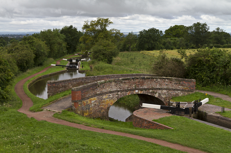 Lock 50 and Bridge 54 - Worcester Birmingham Canal