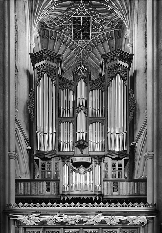 2260 - Bath Abbey Organ - The Cotswold Way - 2009