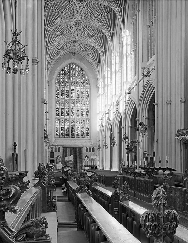 #2255 - Bath Abbey - The Choir Nave - The Cotswold Way - 2009