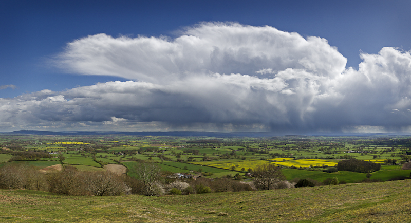 Rain storm over the Cotswolds - Away Skies