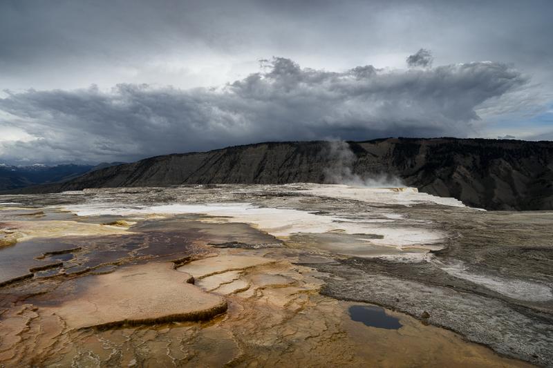 Mammoth Hot Springs - Anvil Cloud - USA - 2016 - Wyoming and Washington