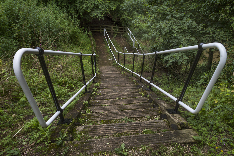 Steps Down - Worcester Birmingham Canal