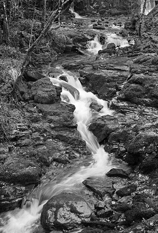 1993 - Falls at Pont Llam yr Ewig - Images from Wales