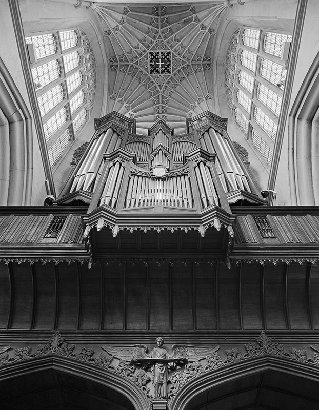 2262 - Bath Abbey - The Organ  North Transept - No 1 - The Cotswold Way - 2009