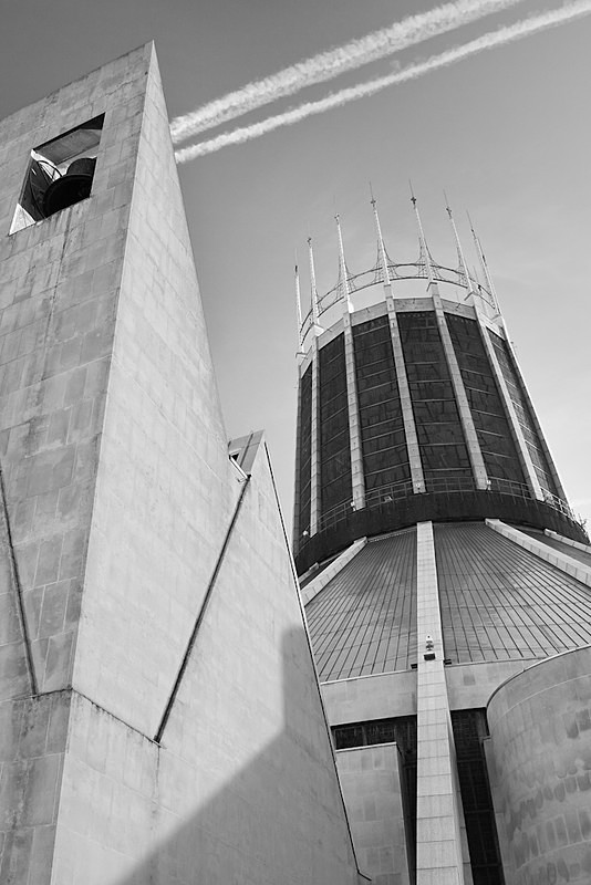 LIVERPOOL CATHOLIC CATHEDRAL BLACK AND WHITE - Liverpool