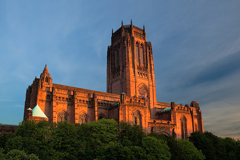 LIVERPOOL ANGLICAN CATHEDRAL IN GARDENS - Liverpool