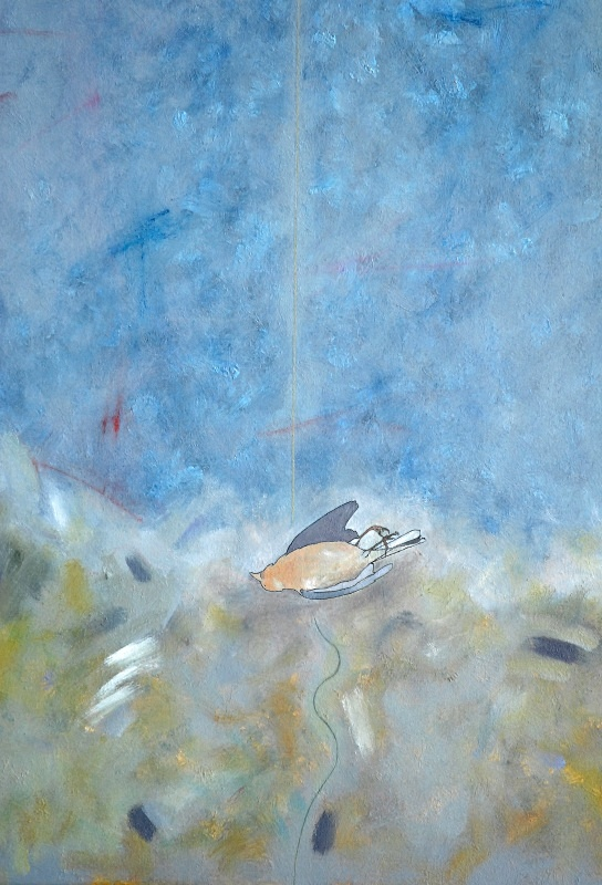 Triptych with Chaffinch detail - Bird Paintings