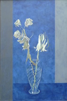 Untitled Oil on linen 24in x 36in - Flower Paintings