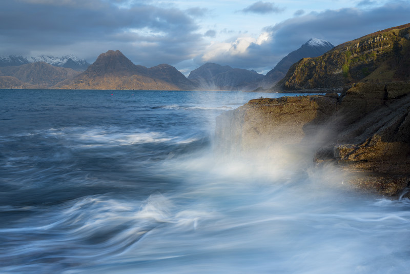 Elgol waves - Scotland