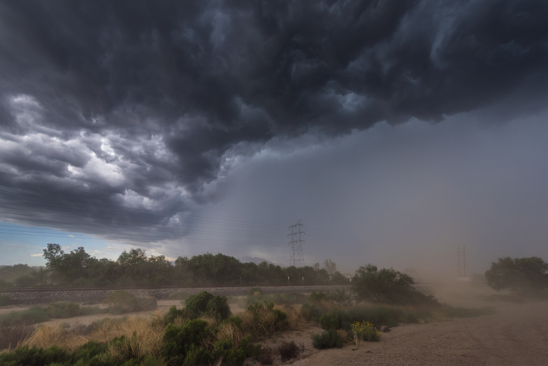 Haboob and shelf cloud, South Arizona - North America