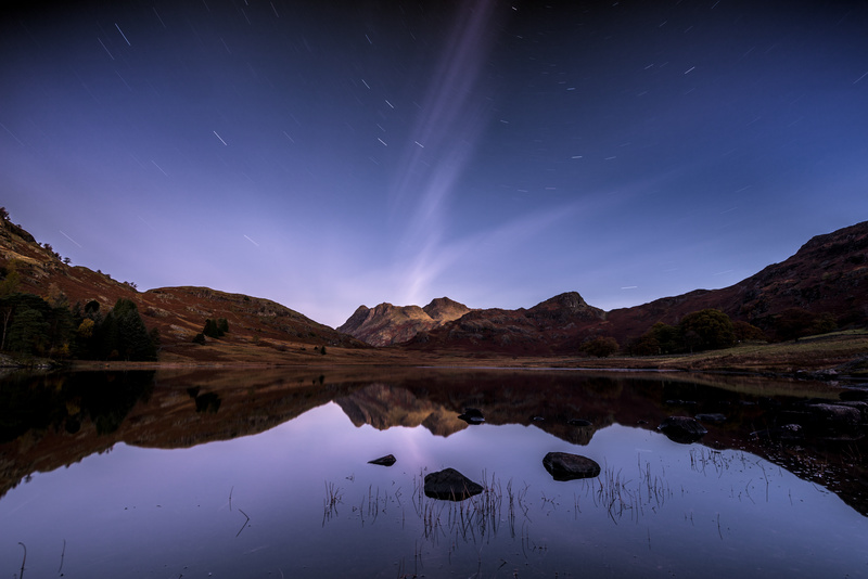 Blea tarn star trails - Lake District & Cumbria