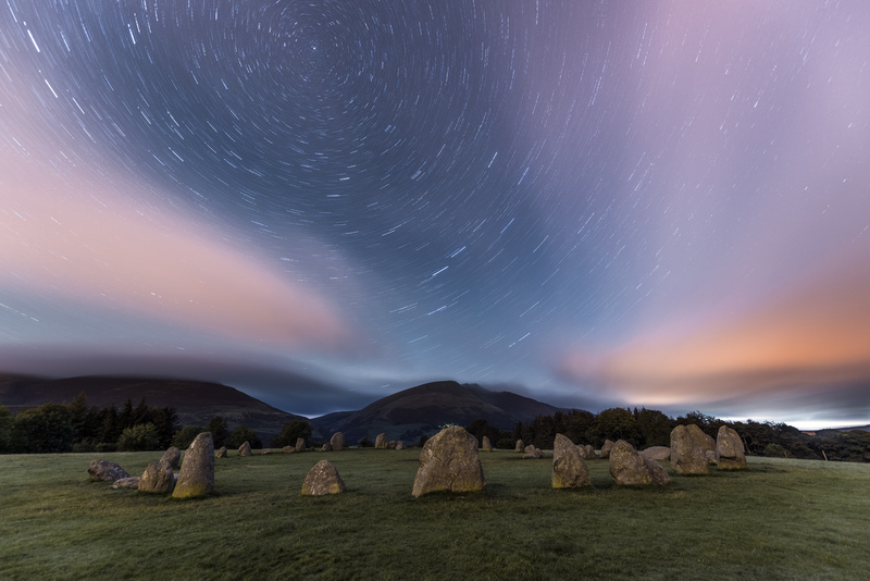 Castlerigg stone circle Star trails - Astrophotography