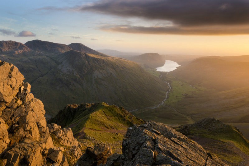 Scafell Pike from Great Gable - Lake District & Cumbria