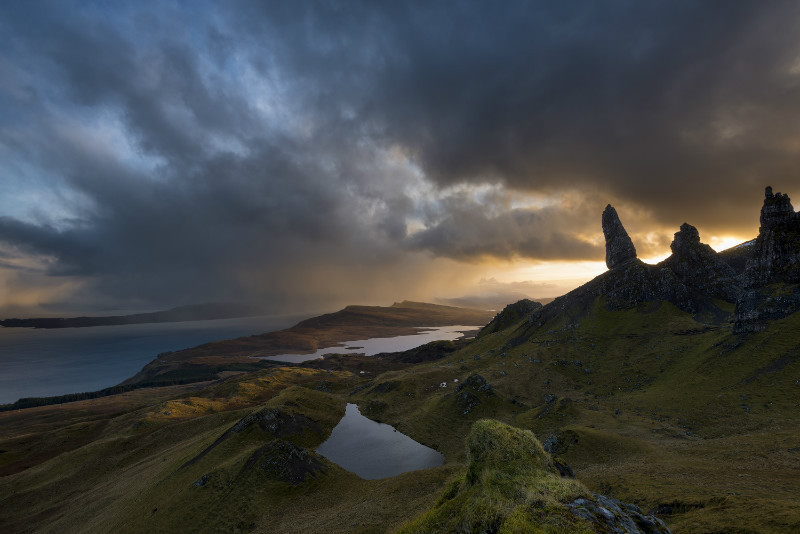 Squally Old Man of Storr - Scotland