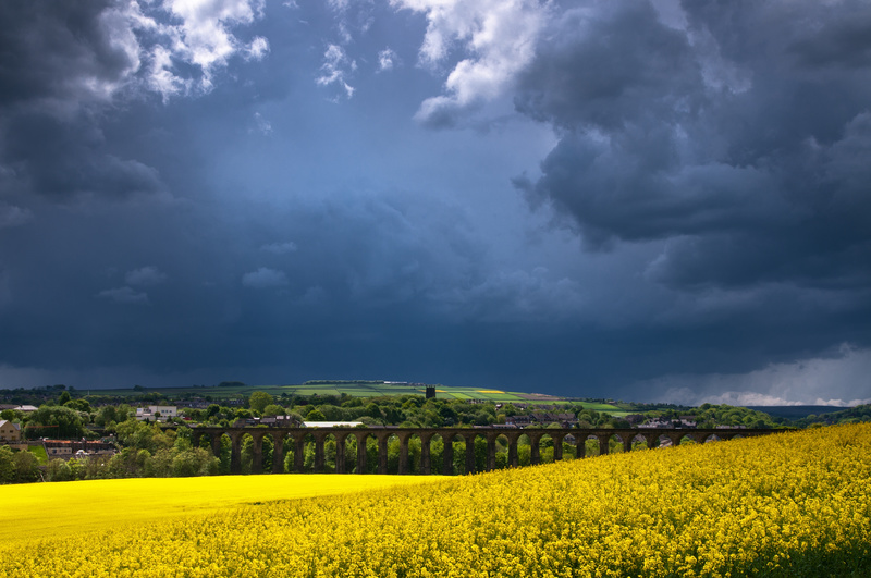 Penistone Viaduct, Storm Approaching - Yorkshire Dales & Yorkshire