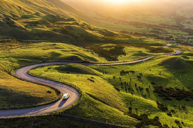 Derbyshire in the Peak District, England.UK - Peak District & surrounding area