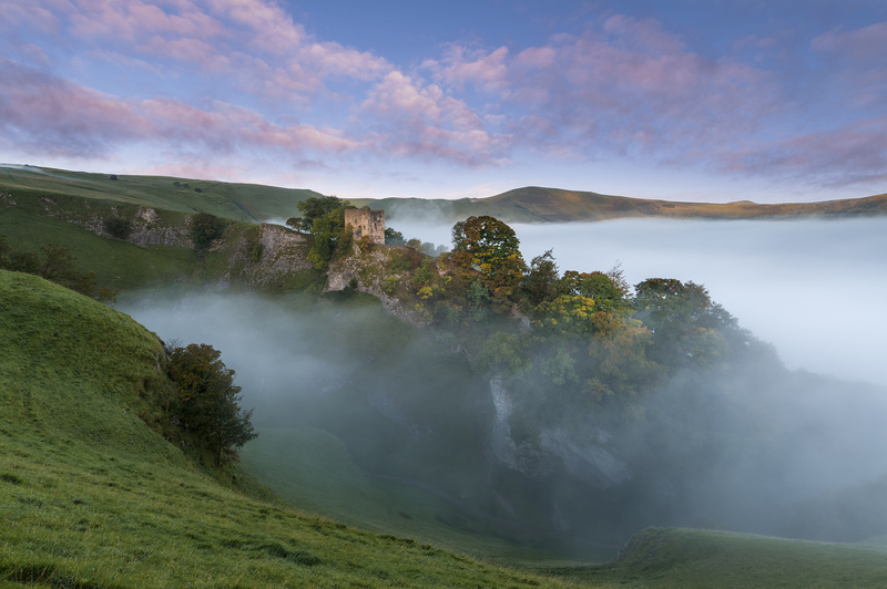 Peveril Castle Autumn Dawn. - Castles and Fortresses