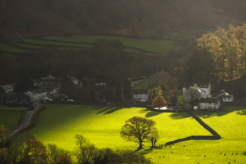 Rosthwaite light, English Lake District - Lake District & Cumbria