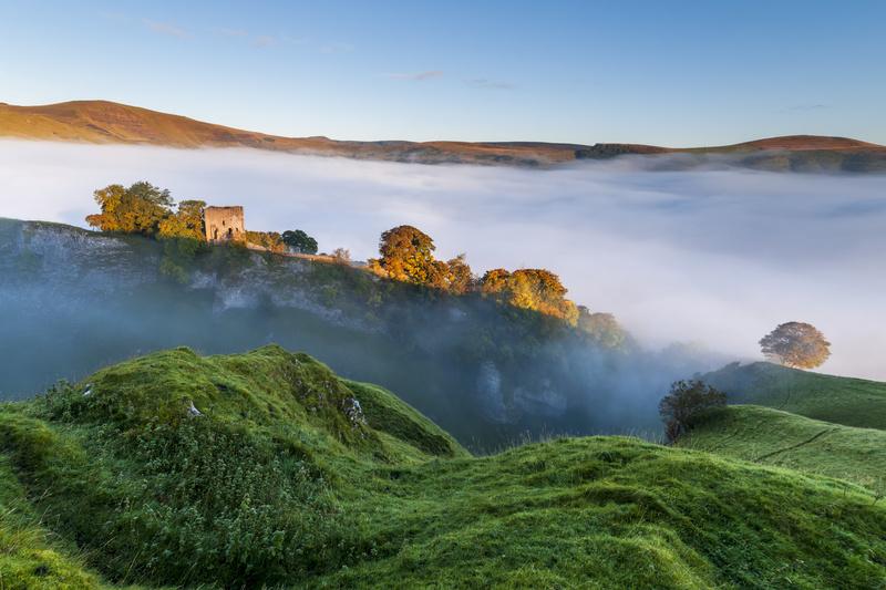 Peveril Castle sunrise - Castles and Fortresses