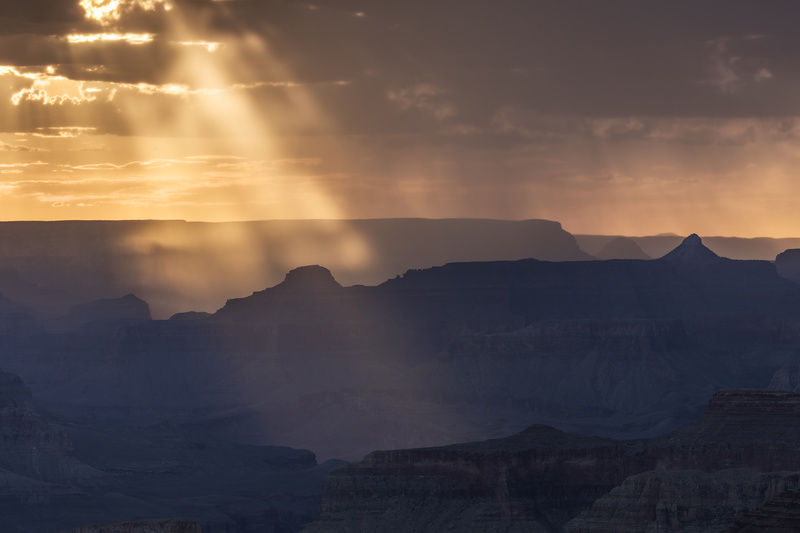 Grand Canyon light rays - North America