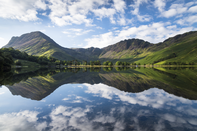 Buttermere symmetry. - Lake District & Cumbria
