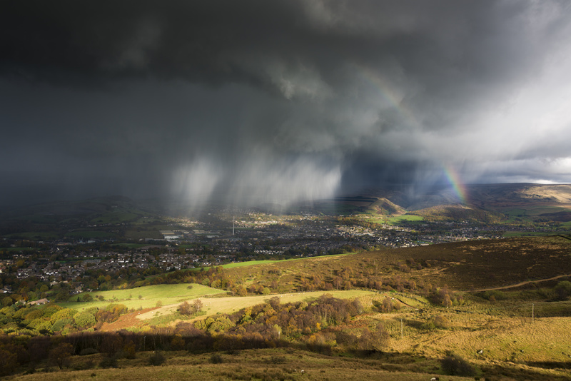 Autumn drama, Derbyshire England. - Weather photography