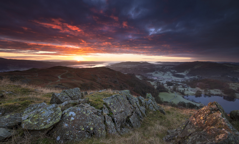 Loughrigg sunrise - Lake District & Cumbria