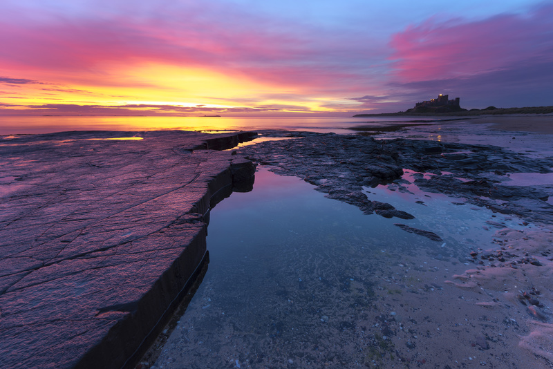Bamburgh sunrise - Northumberland