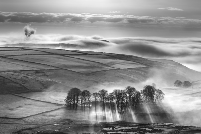 Greensides, Peak District - Black-and-white