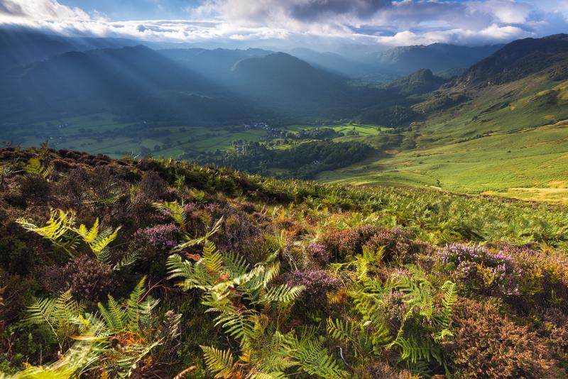 Castle crag from Black crag - Lake District & Cumbria