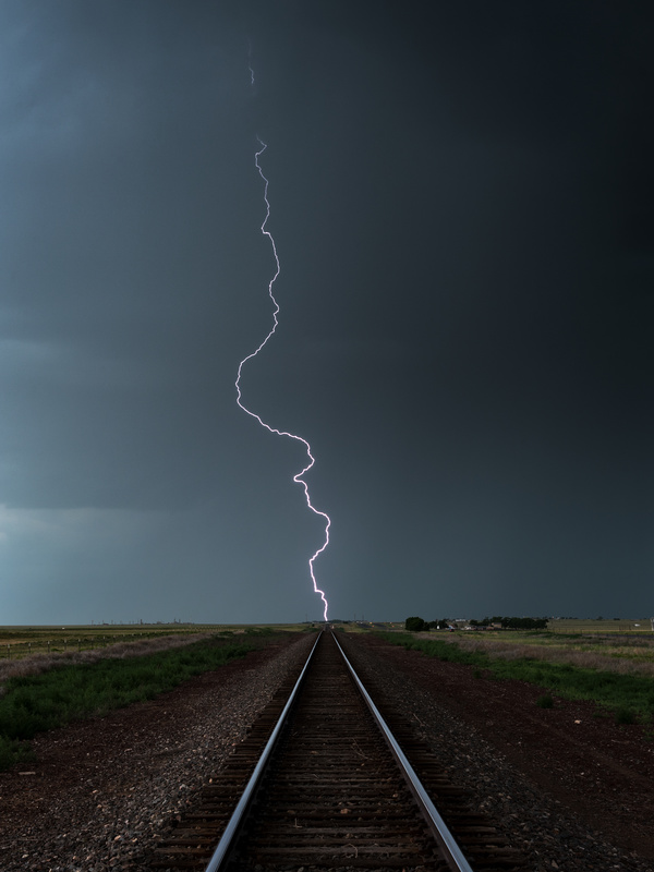 Railroad Lightning Bolt - Weather photography
