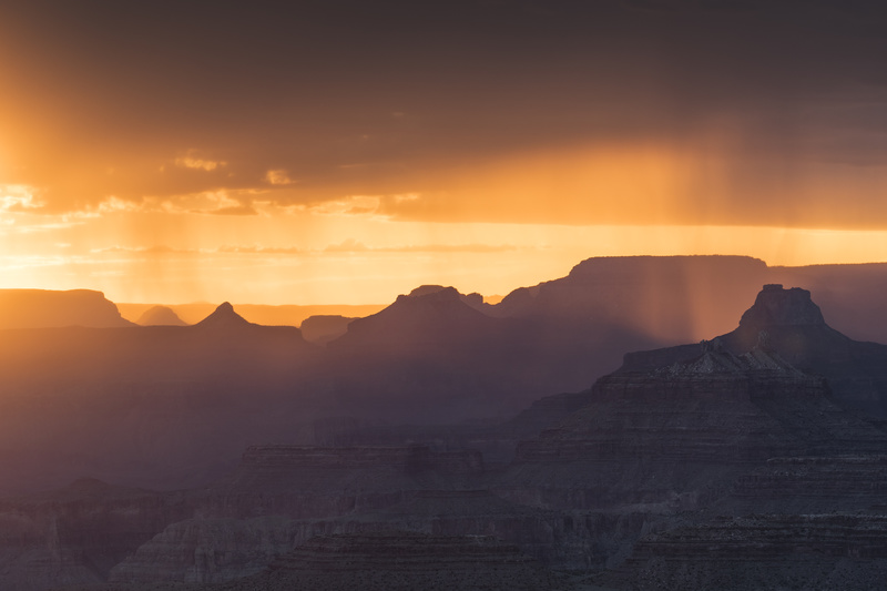 Grand Canyon monsoon sunset - North America