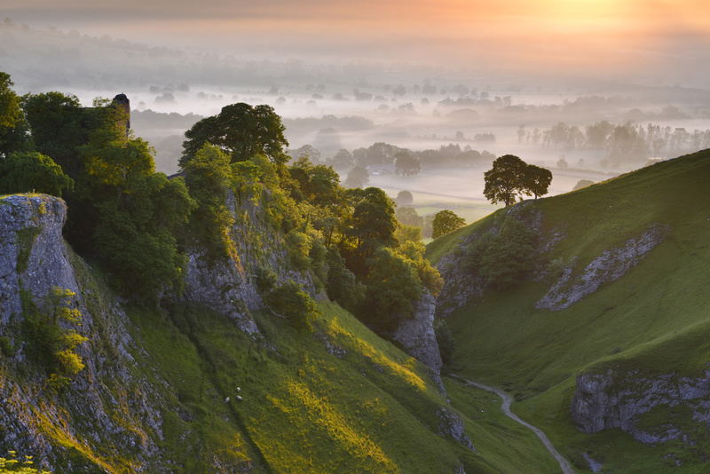 Cave Dale sunrise, Castleton, Peak District. - Peak District & surrounding area