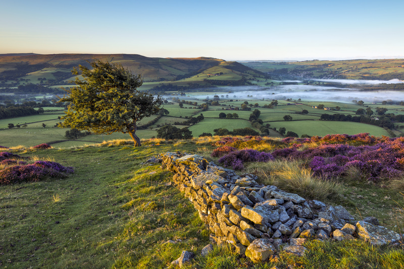 Peak District morning view, Hope valley, England. - Awarded and Published