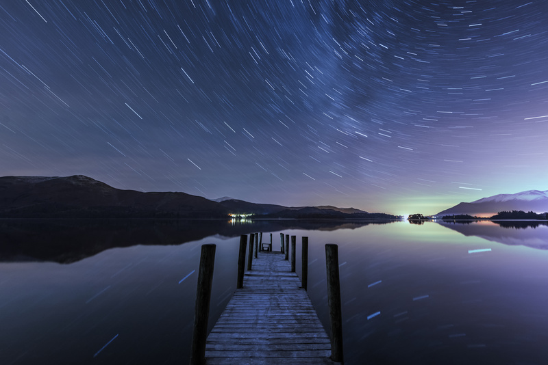 Derwent Water Aurora Star Trails - Astrophotography