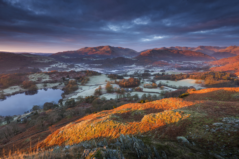 Great Langdale in Red - Lake District & Cumbria