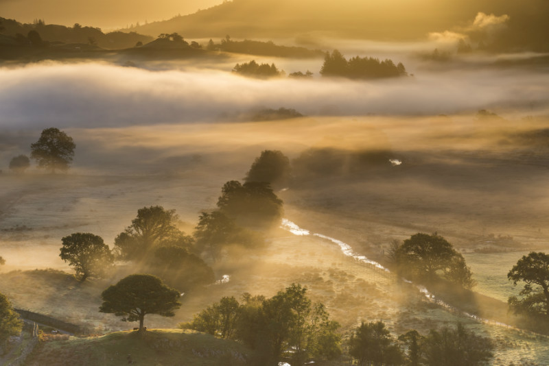 Little Langdale misty sunrise - Lake District & Cumbria