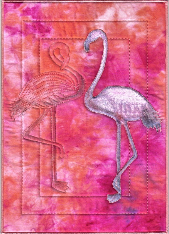 2012 February - Flamingo - JOURNAL QUILTS
