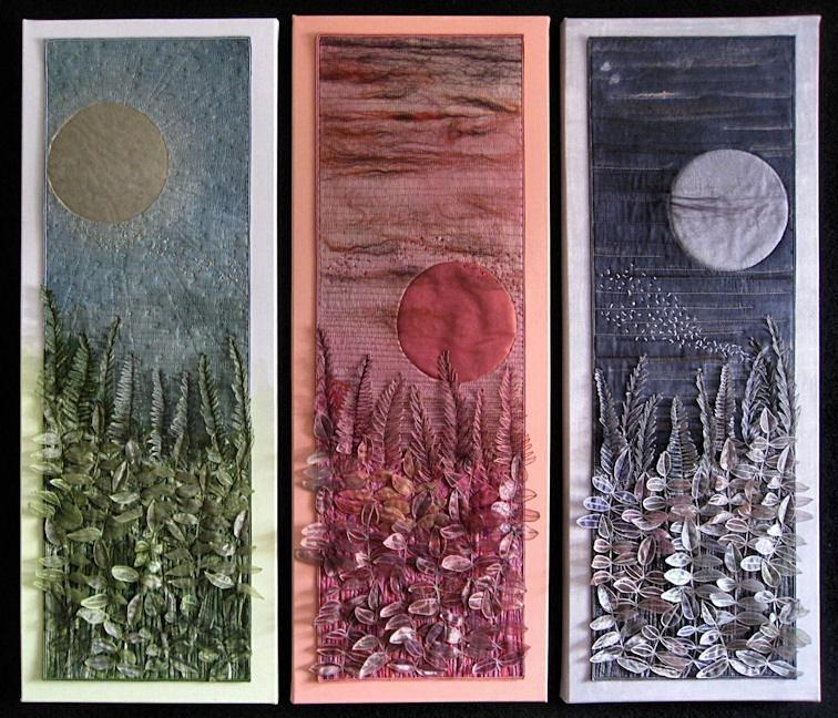 Malvern Triptych : Sunlight - Twilight - Moonlight - Plants & Flowers