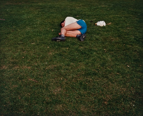 Man Asleep in Park, London, 1997 - Britain and Spain