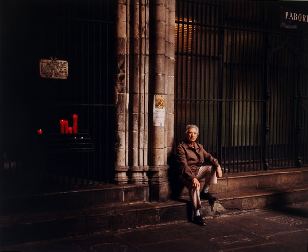 Man in the Cathedral, Barcelona, 1998 - Britain and Spain