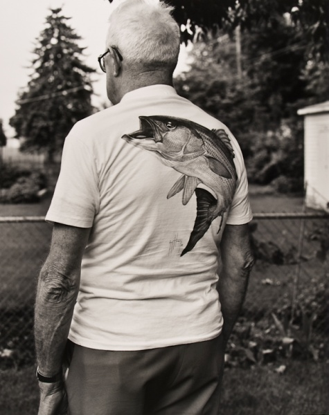 My Dad in Back Yard, Missouri, 1993 - Missouri Portraits