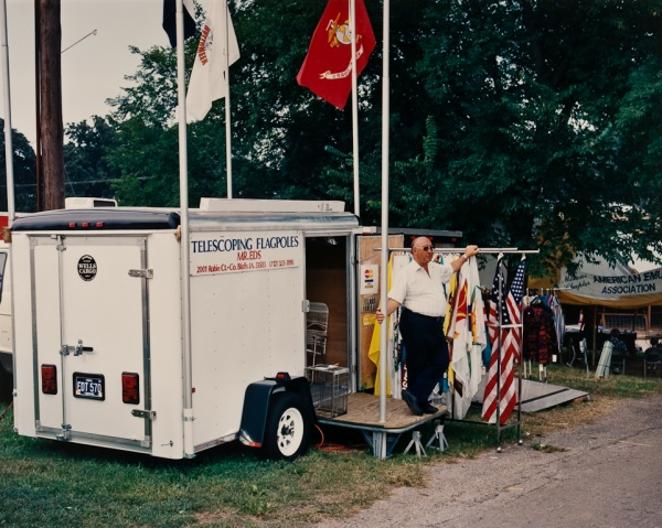 Flag Salesman at Fair, Missouri, 1994 - Missouri Portraits