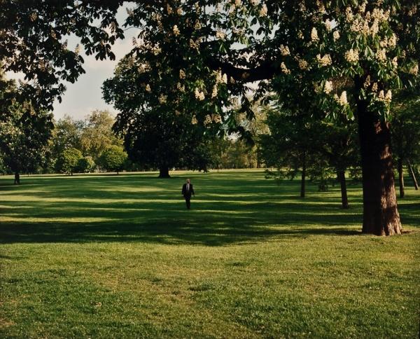 Man Walking in Park, London, 1997 - Britain and Spain