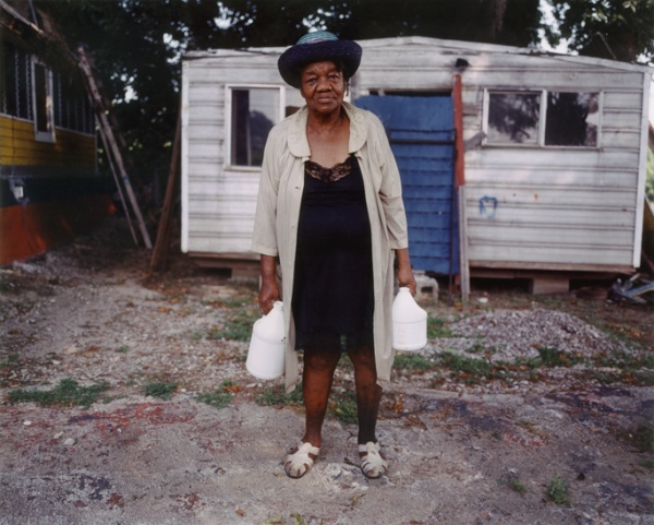 Margaret's Niece, with Water Jugs, Mississippi, 2005 - The True Gospel Preached Here