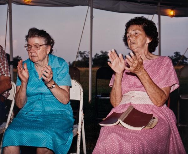 Two Women at Revival, Missouri, 1999 - Missouri Portraits