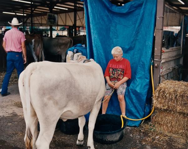 Boy with Cow, Missouri, 1994 - Missouri Portraits
