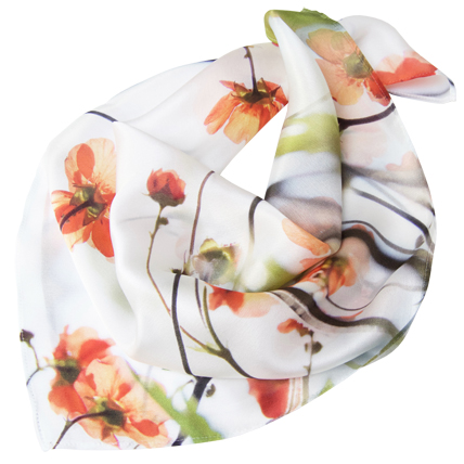 'Geum' Neckerchief Silk Scarf | Nickola Beck Flower Photography & Silk Scarves