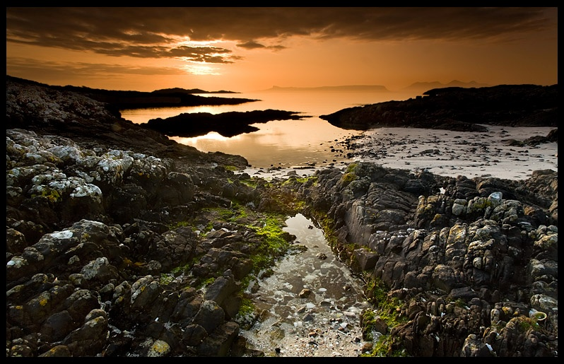 Arisaig - Sunset on Eigg  Rum - Coastal Scotland